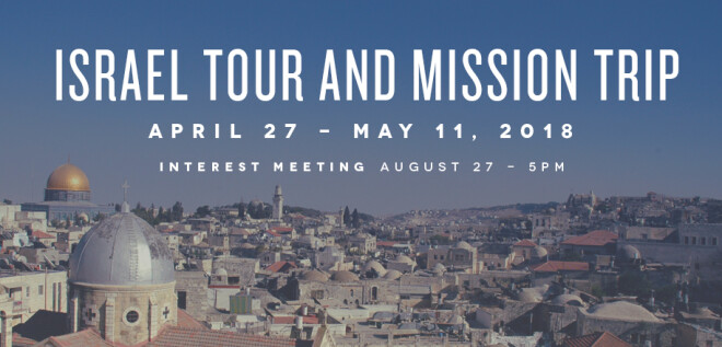 Israel Tour and Mission Trip Interest Meeting