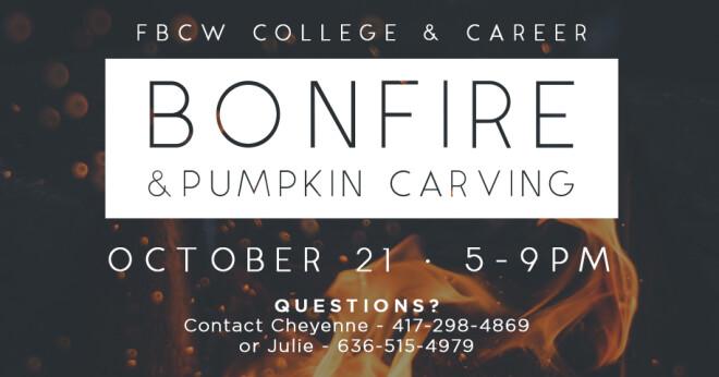 College & Career Bonfire & Pumpkin Carving