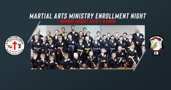 Kenpo Christian Karate Enrollment
