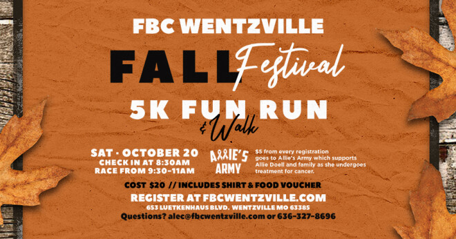 Fall Festival 5K Fun Run Walk
