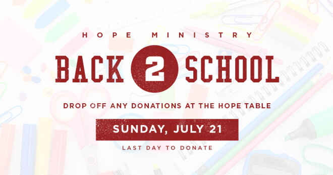 Hope Back 2 School Collection