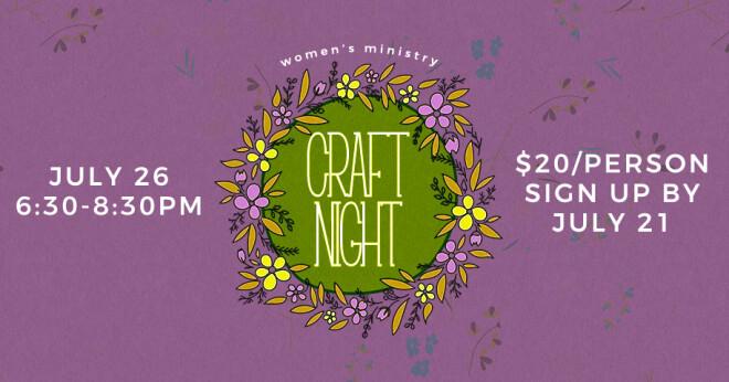 Women's Ministry Craft Night